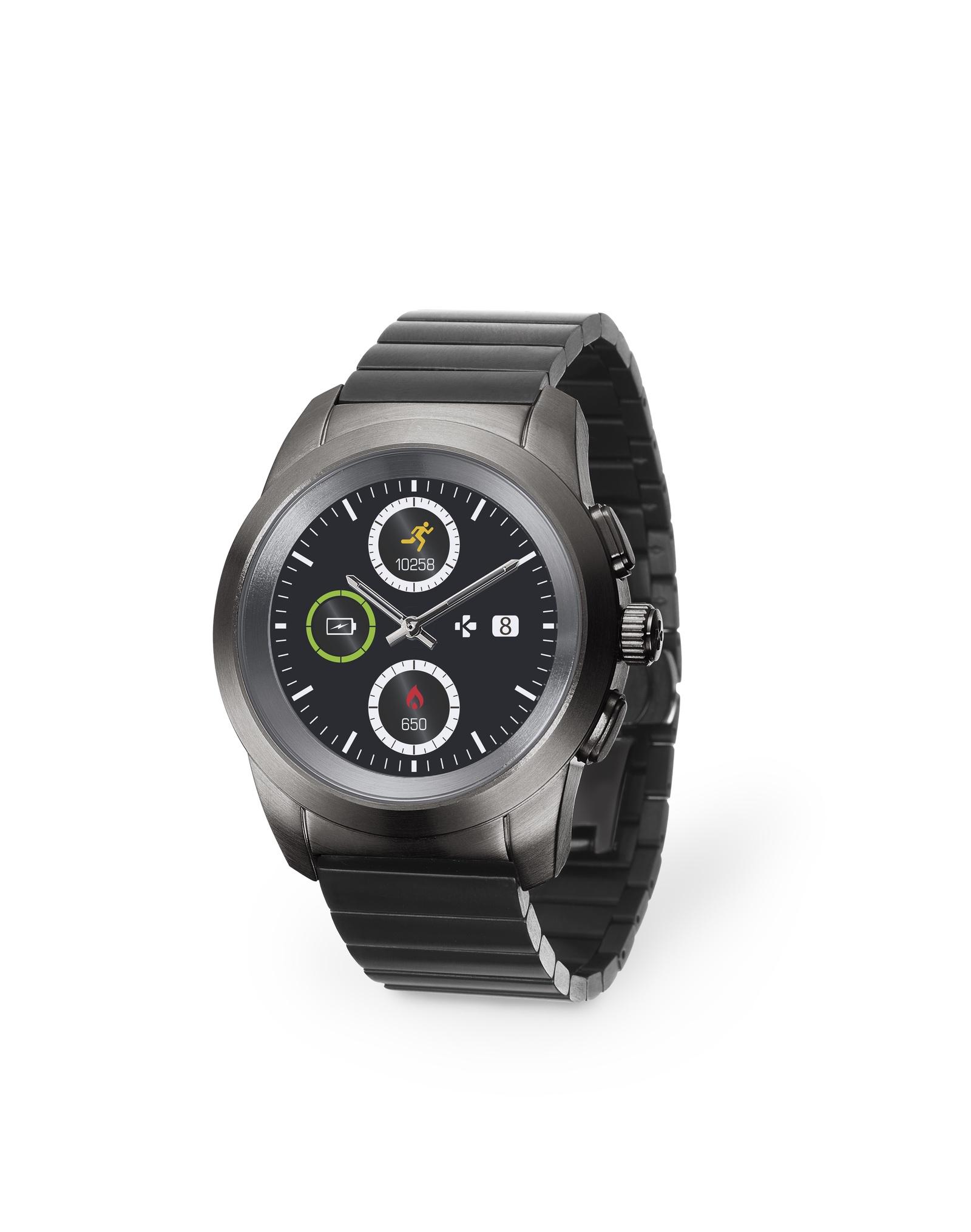 Умные часы MyKronoz Смарт часы гибридные ZeTime Elite Petite, 00-00000354, черный гибридные смарт часы mykronoz zetime original regular цвет матовое серебро черный