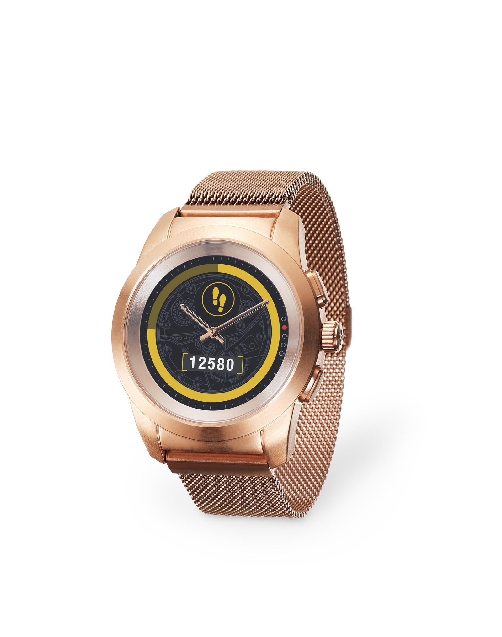Умные часы MyKronoz Смарт часы гибридные ZeTime Elite Petite, 00-00000353, золотой гибридные смарт часы mykronoz zetime original regular цвет матовое серебро черный