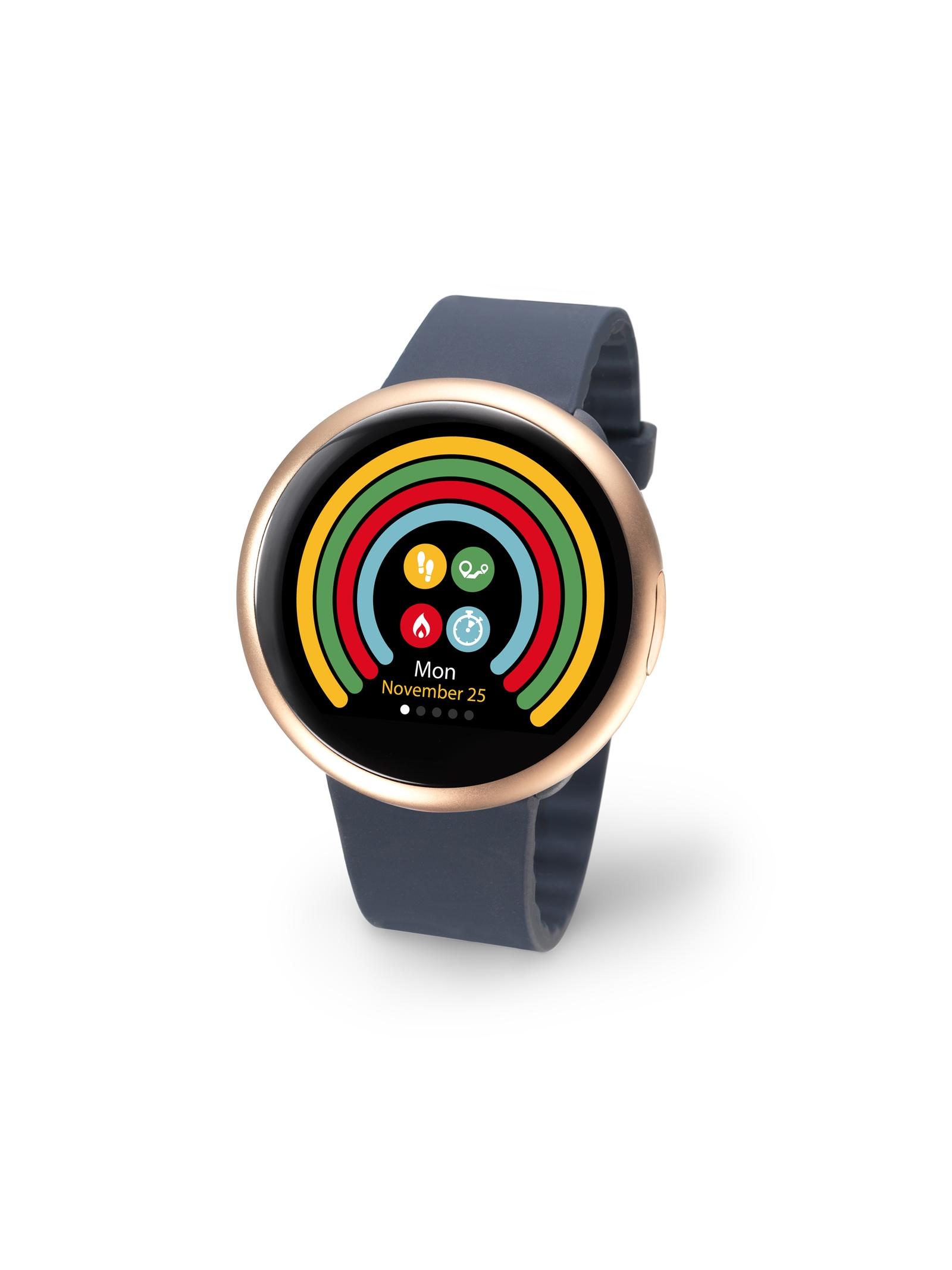 Умные часы MyKronoz Смарт часы ZeRound2HR, золотой цены