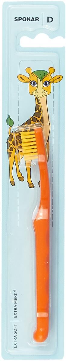 Зубная щетка Spokar Plus, детская, оранжевый