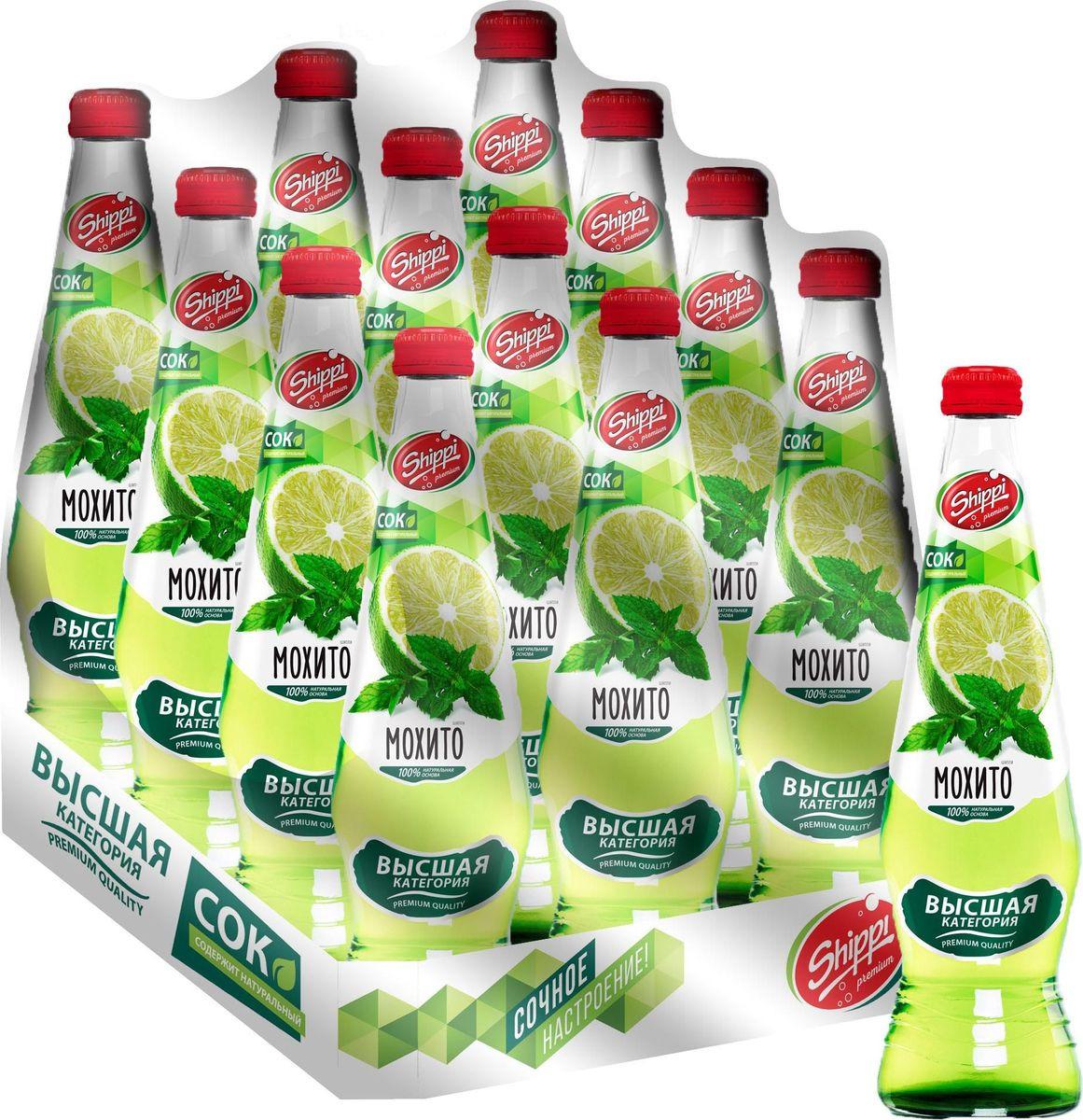 Лимонад Shippi Premium Мохито, 12 шт х 500 мл лимонад fruktomania мохито 12 шт по 0 5 л