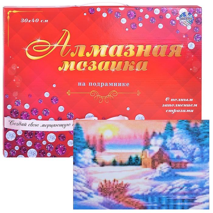 Алмазная мозаика Рыжий Кот Зима в деревни, ST-410 алмазная вышивка натюрморт с фруктами рыжий кот 30х40 см