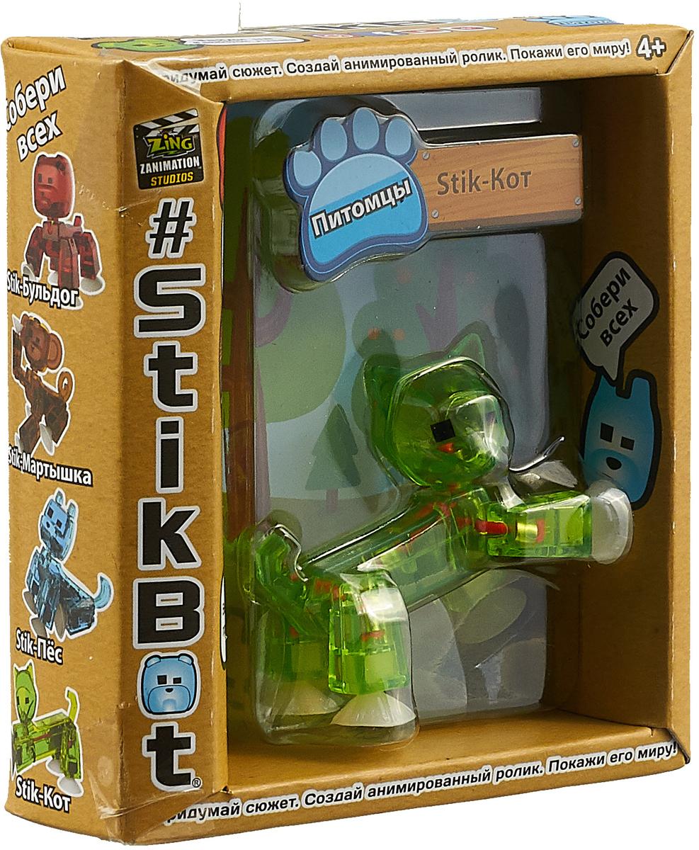 Фигурка Stikbot Питомцы Бульдог, TST622, зелёный stikbot фигурка питомцы бульдог красный