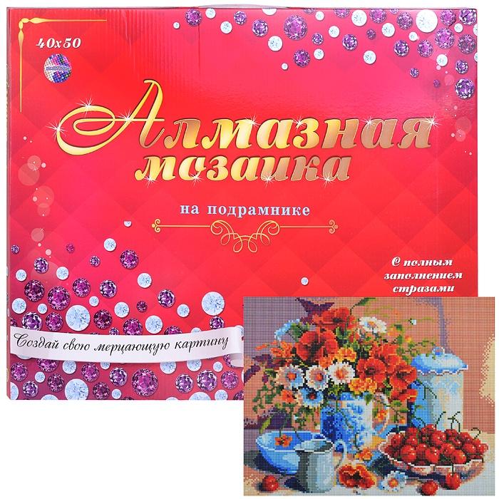 Алмазная мозаика Рыжий Кот Натюрморт с малиной, AC4012 алмазная вышивка натюрморт с фруктами рыжий кот 30х40 см