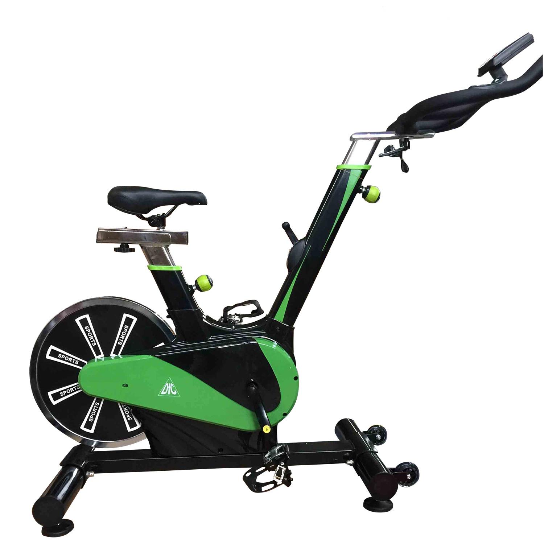 Велотренажер DFC B3306, черный, зеленый
