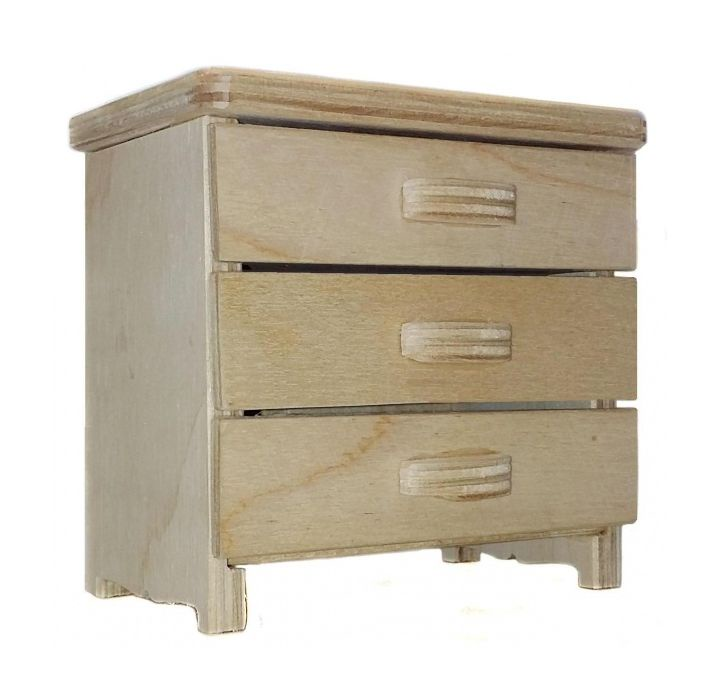 Мебель для кукол Альтаир Комод деревянный малый, 16672