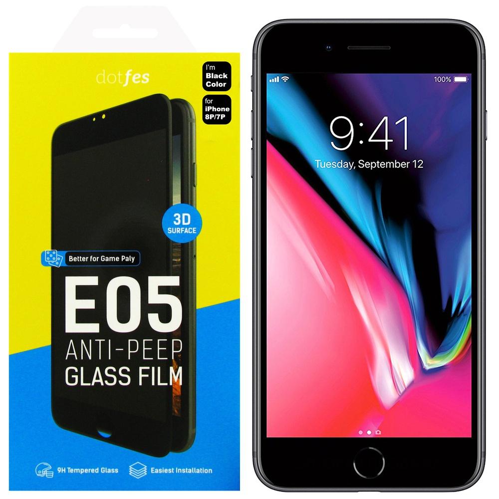 Защитное стекло Dotfes E05, черный защитное стекло 5d glass shield iphone 7 8 ip7dl черный