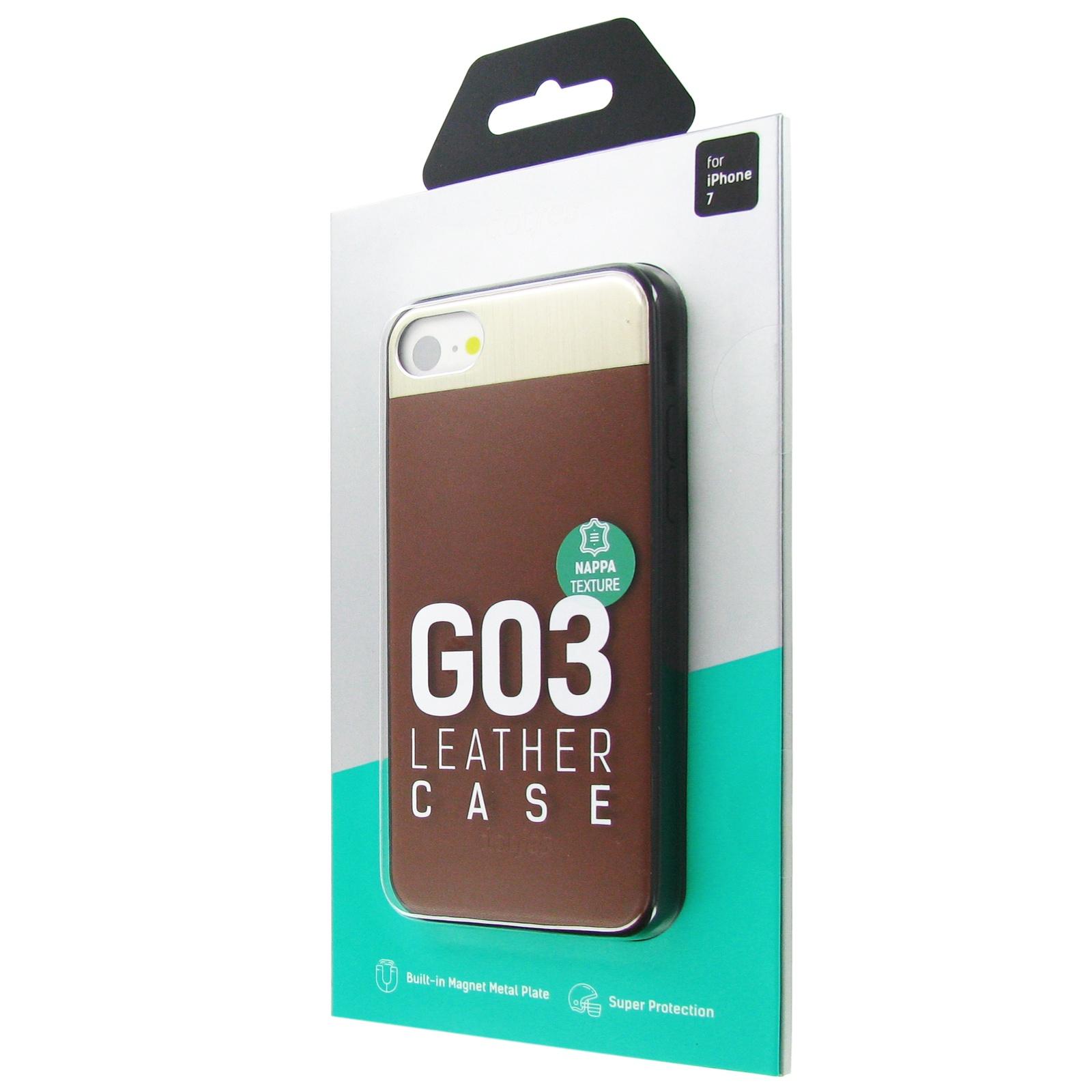 Чехол для сотового телефона Dotfes G03, коричневый цена и фото