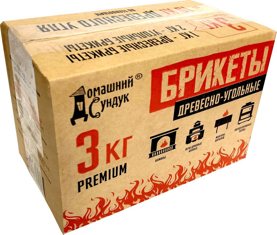 Брикет для растопки Домашний Сундук Premium, ДС-224, 3 кг