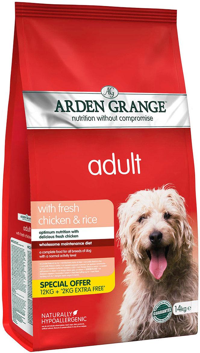 Корм сухой Arden Grange Promo для взрослых собак, с курицей и рисом, 14 кг