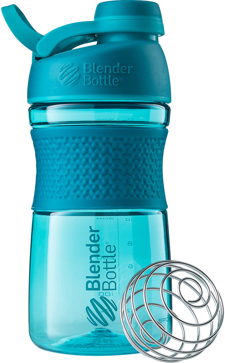 Шейкер спортивный BlenderBottle SportMixer Tritan Twist Cap, BB-ST20-FCTE, бирюзовый, 591 мл