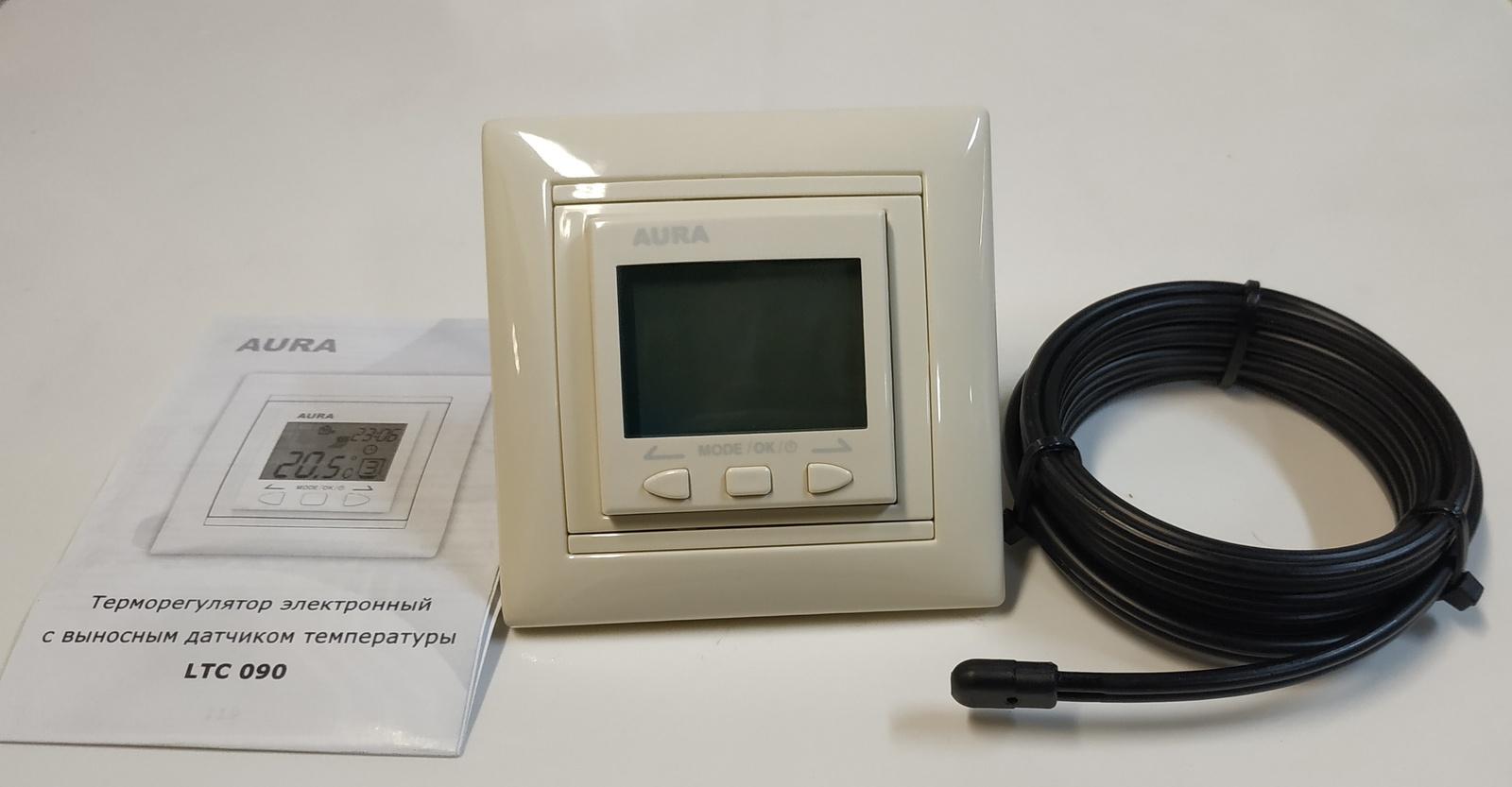 Регулятор теплого пола AURA LTC 090 Крем, 3202090 стоимость