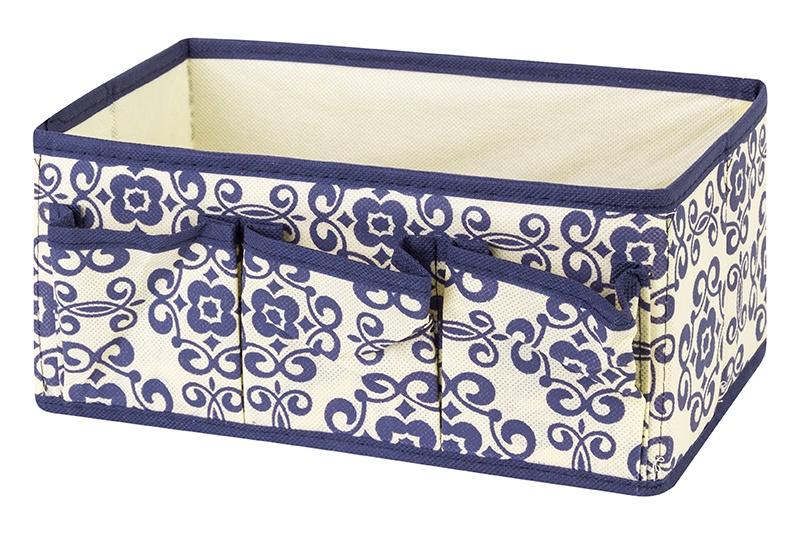 Органайзер для мелочей и косметики EL Casa Синий узор, бежевый органайзеры для хранения el casa органайзер для обуви сиреневая мозаика