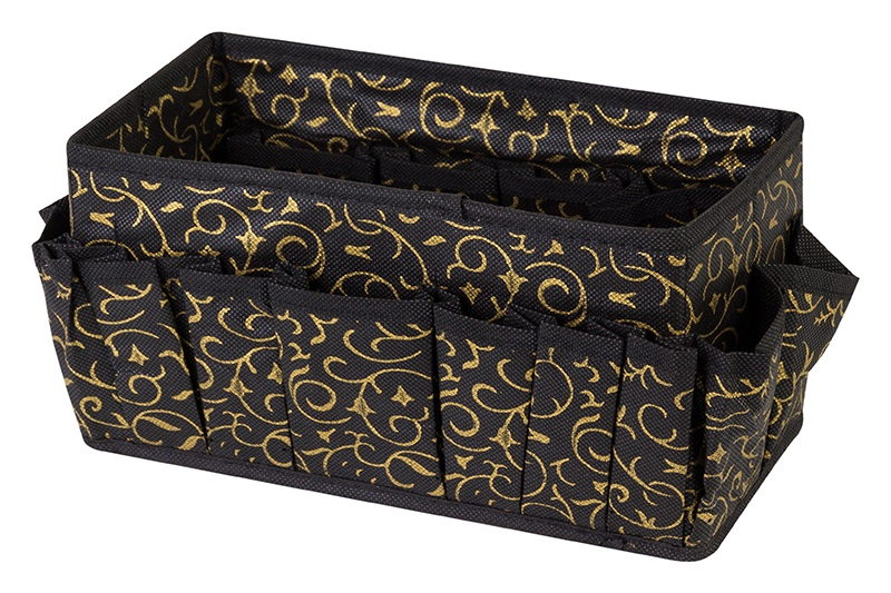 Органайзер для мелочей и косметики EL Casa Золотой узор, коричневый органайзеры для хранения el casa органайзер для обуви сиреневая мозаика