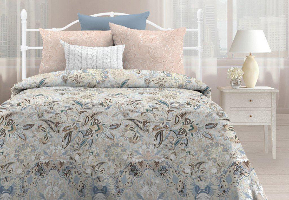 Комплект постельного белья Любимый дом Дыхание, 557817, 1,5-спальный, наволочки 70x70
