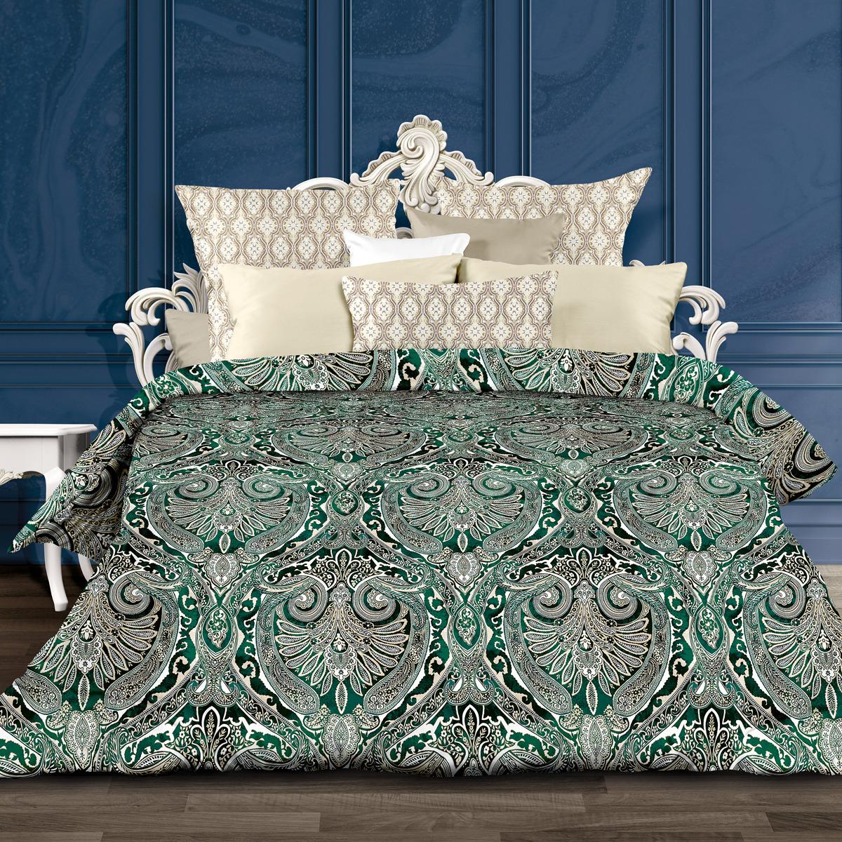 Комплект постельного белья Унисон Сапфир, 556900, 2-спальный, наволочки 70x70 комплект постельного белья унисон криолло