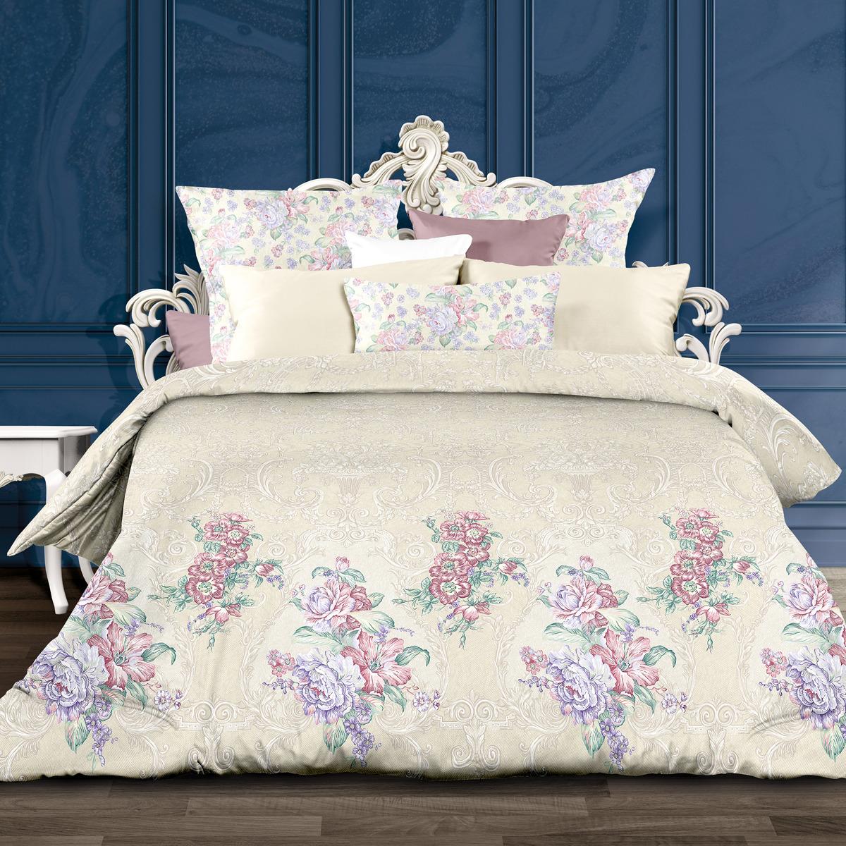 Комплект постельного белья Унисон Магдалена, 552270, 2-спальный, наволочки 70x70 комплект постельного белья унисон бархат