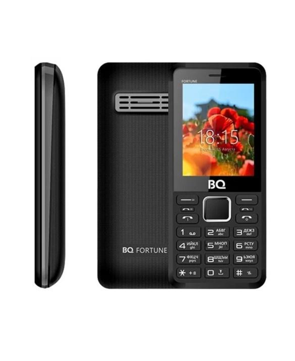 Мобильный телефон BQ BQM-2436 Fortune P, 134565703732, черно-серый стоимость