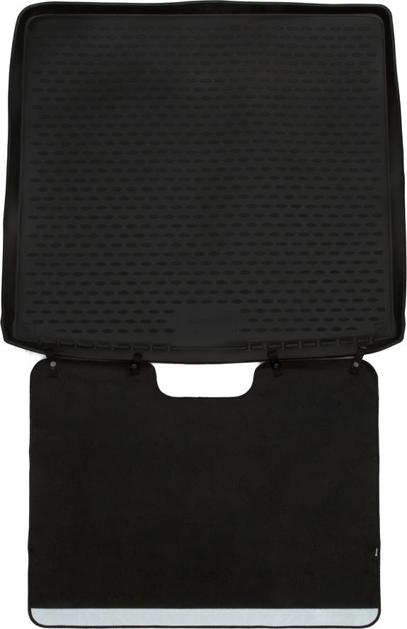 Коврик в багажник ELEMENT с функцией защиты бампера Econom для Renault Duster 4WD, 2011-2015, 2015-> кросс. коврик в багажник element haval h9 2015 внедорожник