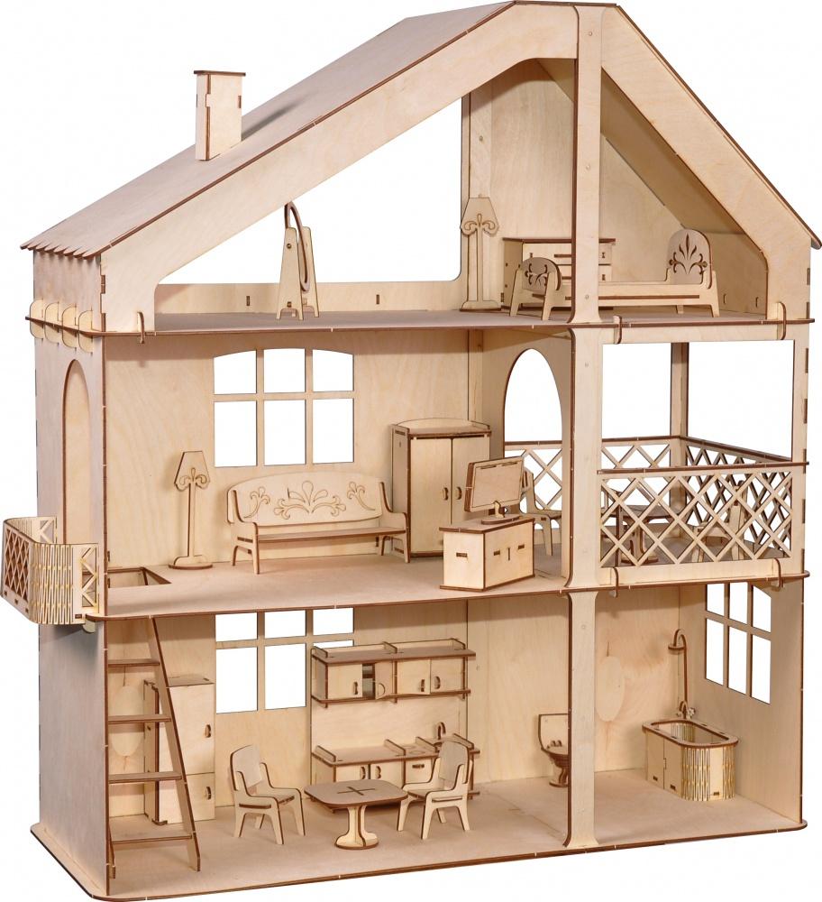 Дом для кукол ХэппиДом Гранд коттедж, HK-D008 бежевый