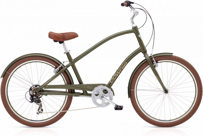 Велосипед Electra Bicycle Company Townie Original 7D Matte Khaki, 539175, хаки