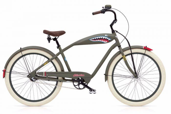 Велосипед Electra Bicycle Company Tiger Shark 3i, 262139, хаки