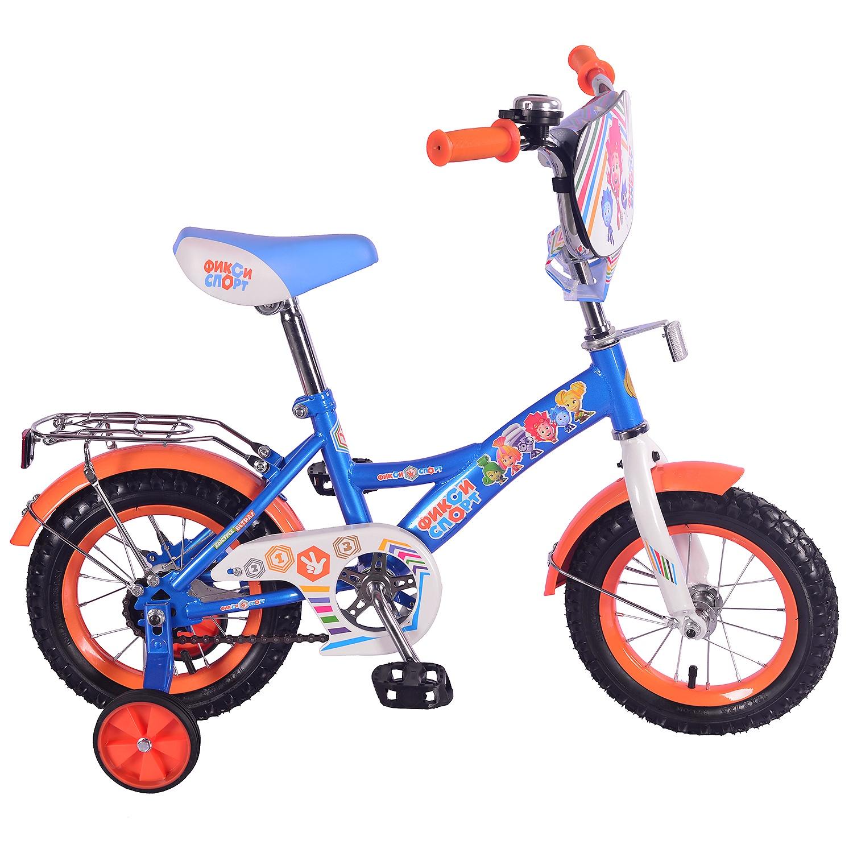 Велосипед ФИКСИКИ ST12036-GW, синий, оранжевый цена и фото