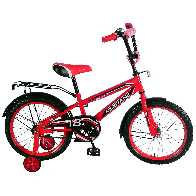 Велосипед Mustang ST18028-NT, красный, черный
