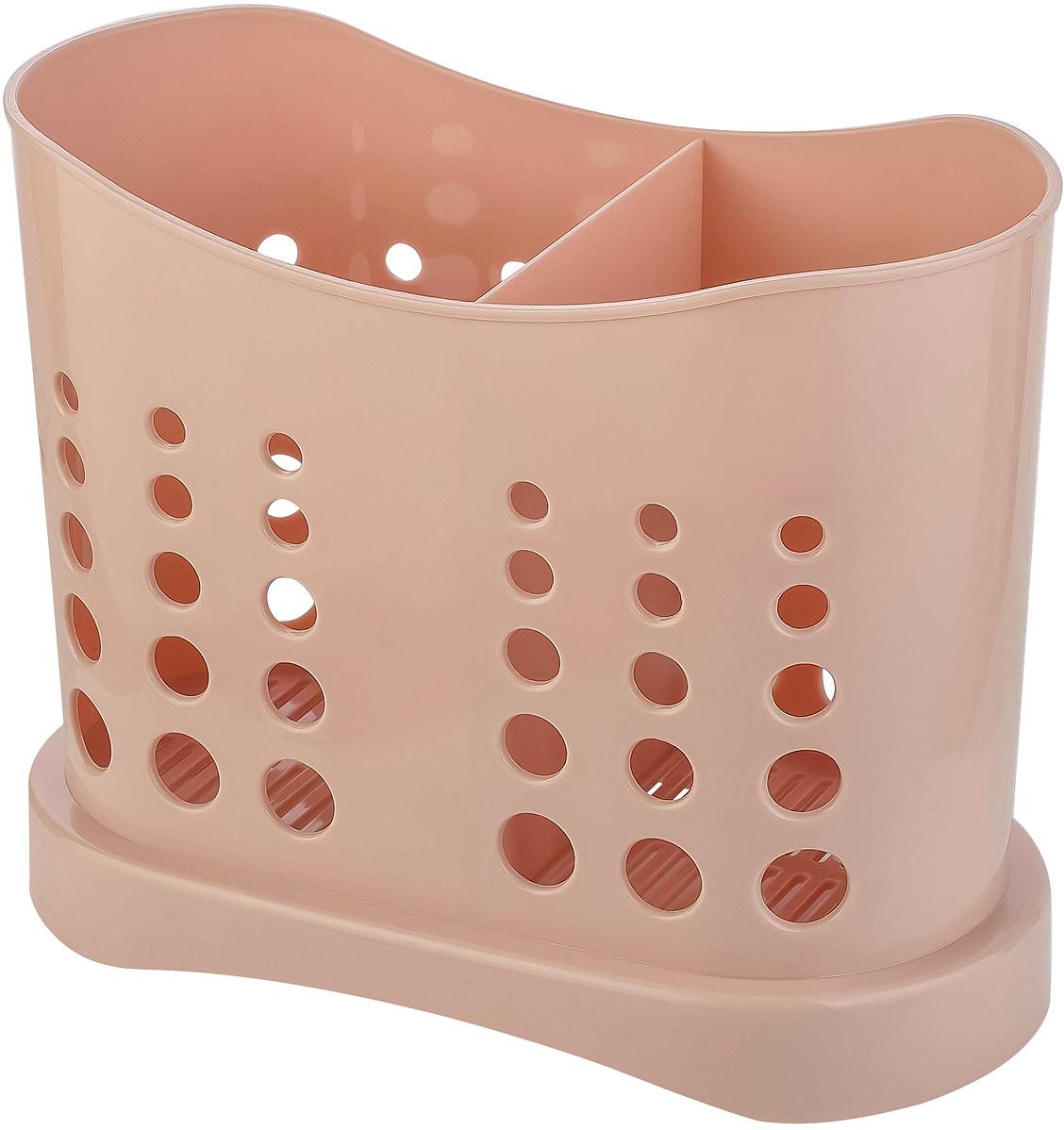 Сушилка для столовых приборов Plast Team Stockholm, PT9070ПД-22, пудровыйPT9070ПД-22Правильно подобранные аксессуары для кухни способны сделать ее удобной, функциональной, а главное красивой. Две секции для разделения столовых приборов. Встроенные ножки и отверстия для слива воды. Встроенные в дизайн отверстия для обеспечения вентиляции столовых приборов.