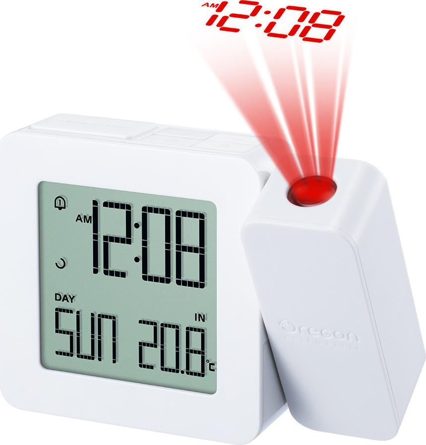 Проекционные часы с термометром Oregon Scientific RM338PX, белый часы проекционные с термометром rst 32758