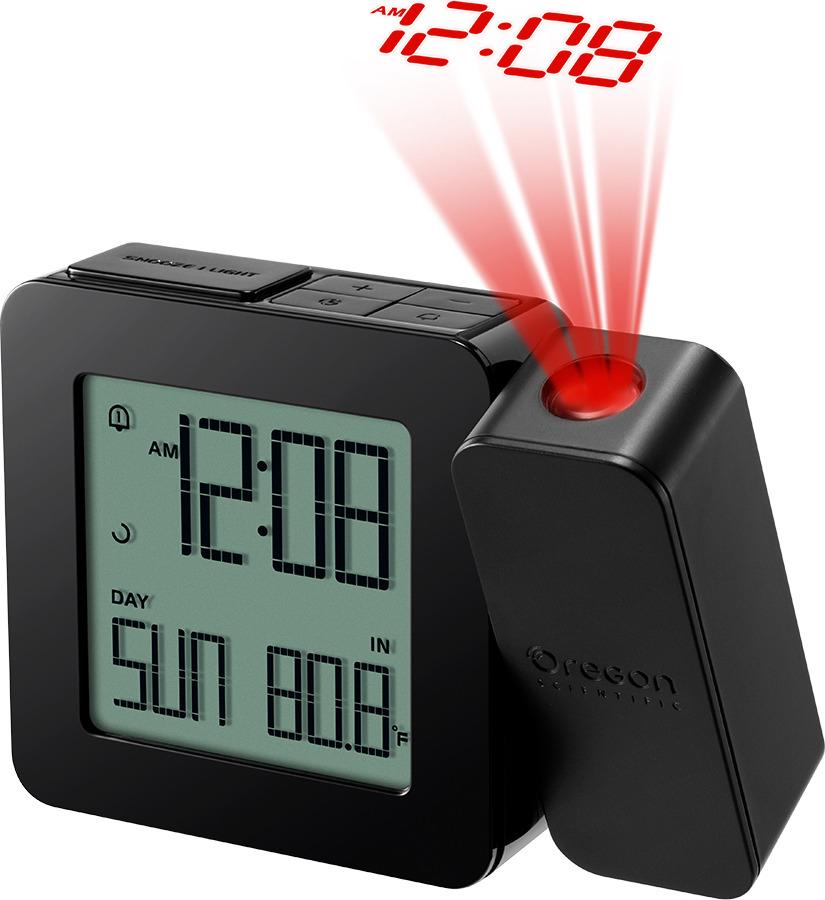Проекционные часы с термометром Oregon Scientific RM338PX, черный часы проекционные с термометром rst 32758