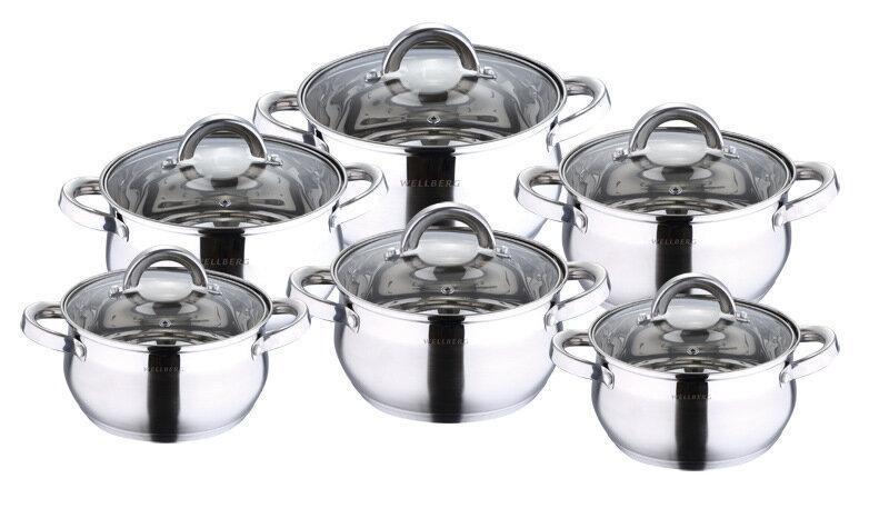 Набор посуды для приготовления WELLBERG AVENTO, серебристый стоимость