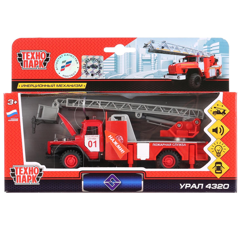 Машинка Технопарк 154255 красный технопарк машина урал будка милиция полиция