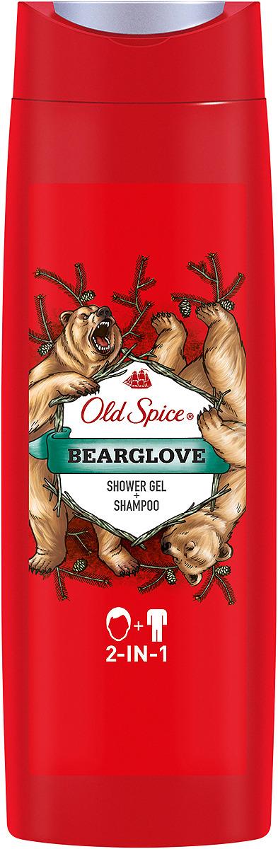 Гель для душа и шампунь 2в1 Old Spice Bearglove, Дикий аромат, 400 мл