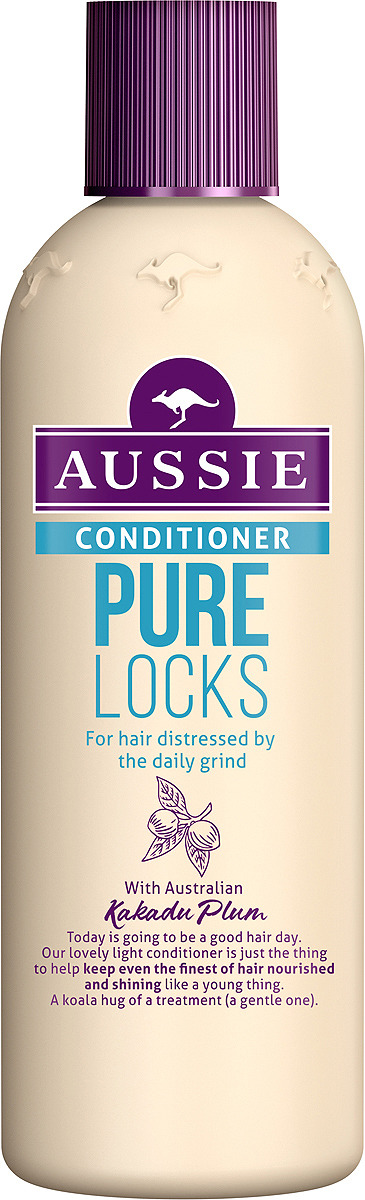 Бальзам-ополаскиватель Aussie Pure Locks, для волос, страдающих от ежедневной укладки, 250 мл бальзам ополаскиватель aussie pure locks для волос страдающих от ежедневной укладки 250 мл
