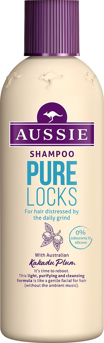 Шампунь Aussie Pure Locks, для волос, страдающих от ежедневной укладки, 300 мл бальзам ополаскиватель aussie pure locks для волос страдающих от ежедневной укладки 250 мл