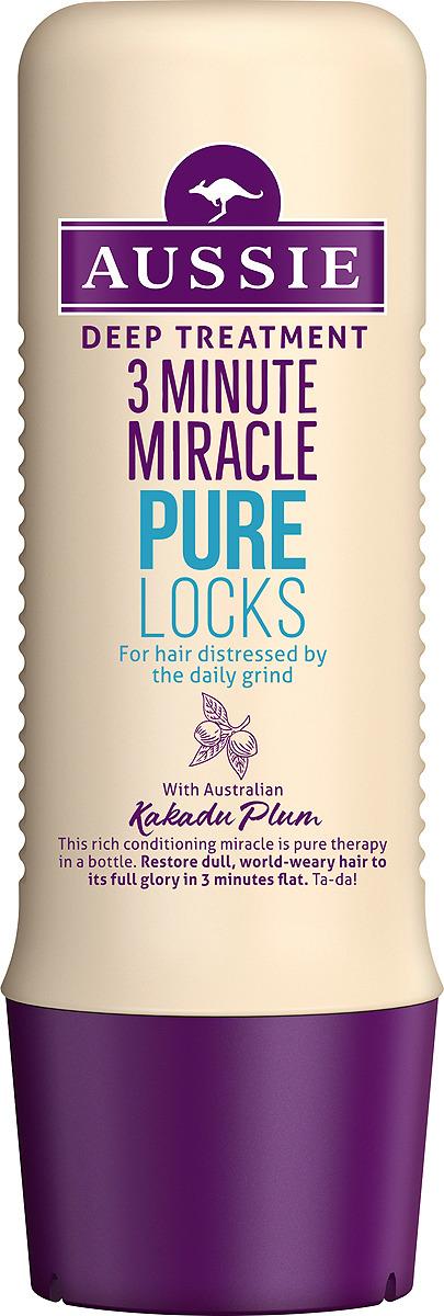 Средство интенсивного ухода Aussie Pure Locks, для волос, страдающих от ежедневной укладки, 250 мл бальзам ополаскиватель aussie pure locks для волос страдающих от ежедневной укладки 250 мл