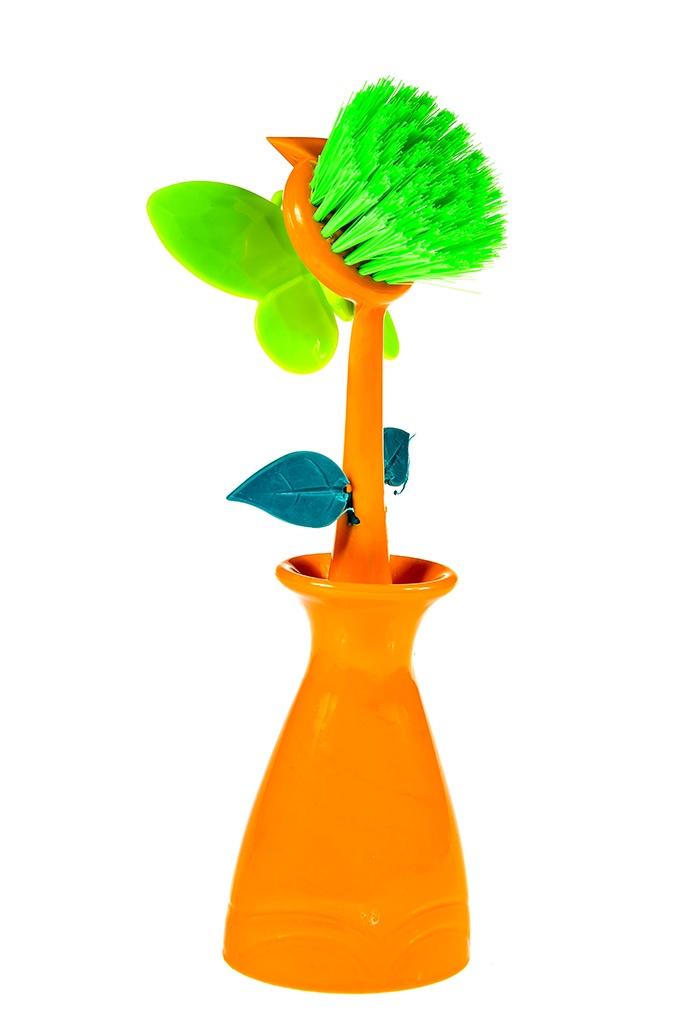 Щетка для посуды Kukina Raffinata Цветок в вазе щетка для посуды markethot двусторонняя щётка для мытья посуды