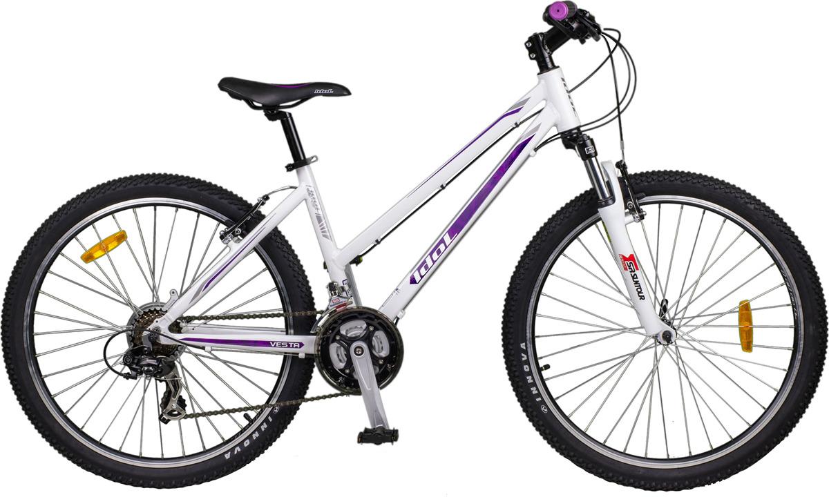 Велосипед горный Idol Vesta, 48407, белый, колесо 26