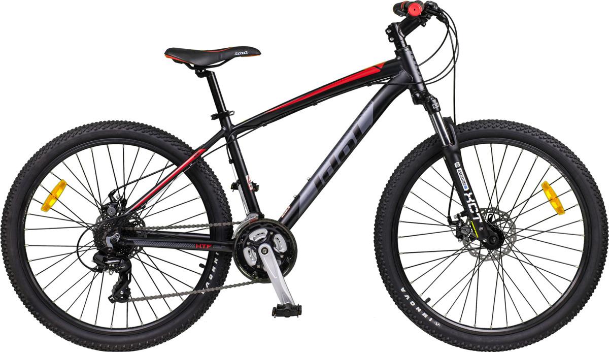 Велосипед горный Idol Zombie, 48408, черный, рама 17, колесо 27.5 вилка амортизационная suntour гидравлическая для велосипедов 26 ход 100 120мм sf14 xcr32 rl 26