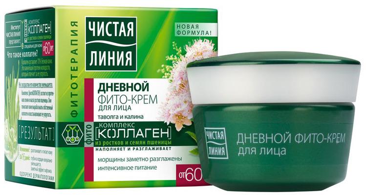 Чистая Линия Фитотерапия Дневной крем для лица От 60 лет таволга и калина 45 мл