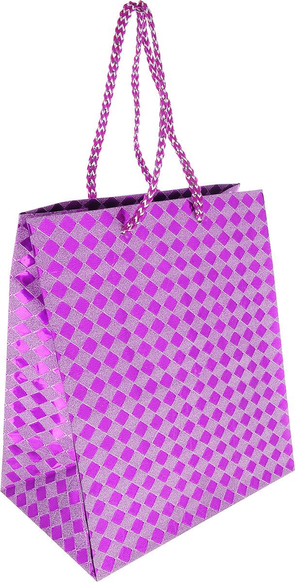 Пакет подарочный Яркий Праздник Ромб, 19178, фиолетовый, 17.8 х 22.9 х 10.2 см пакет подарочный яркий праздник однотонный цвет розовый 17 8 х 22 9 х 10 2 см