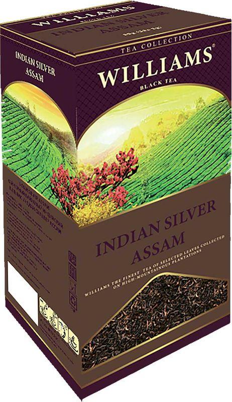 Чай в пакетиках черный Williams Indian Silver Assam, 25 шт933Черный индийский высокогорный чай Ассам это отборный премиальный байховый чай с высоким содержанием серебряных типсов. Вкус терпкий и ароматный, с медовым послевкусием.