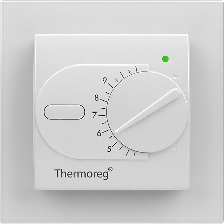Терморегулятор теплого пола Thermo Терморегулятор Thermoreg TI 200 Design, 7350049070964