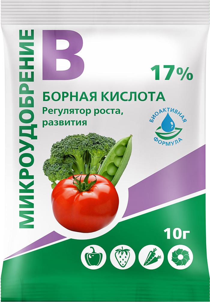 Удобрение БиоМастер Борная кислота, 10 г бор для растений