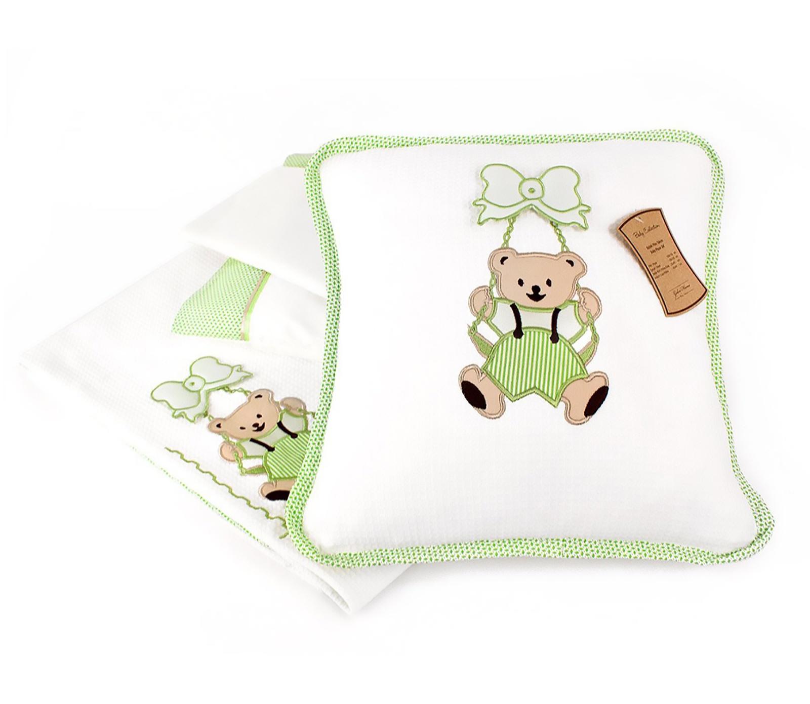 Комплект в кроватку Gelin home SALLANAN BEBE, зеленый, зеленый