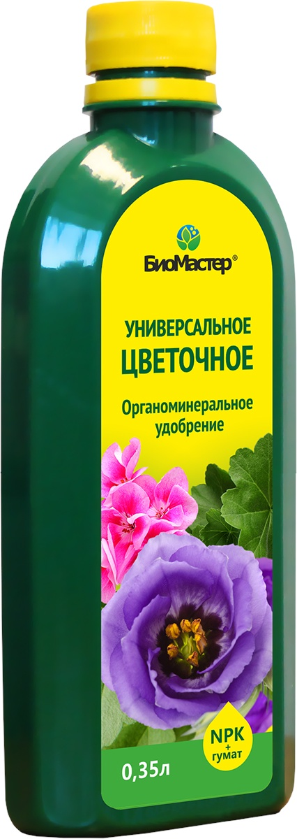 Удобрение БиоМастер Комплексное органоминеральное удобрение Универсальное, для всех видов цветов, Z-BM-20 удобрение росому осеннее органоминеральное универсальное 5 кг
