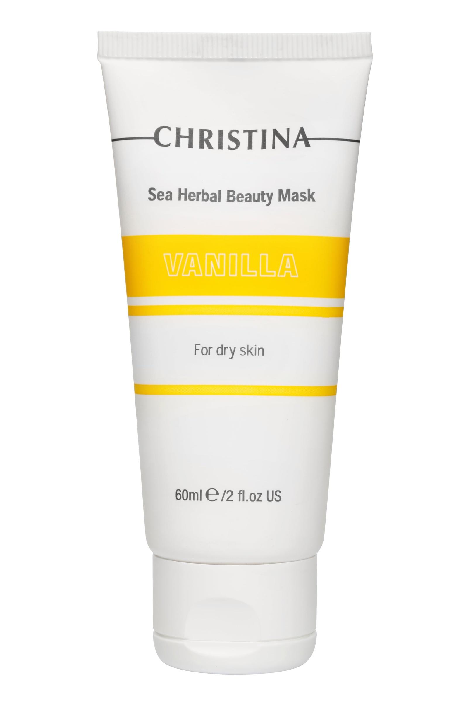 Маска косметическая CHRISTINA Маска красоты для сухой кожи «Ваниль» Sea Herbal Beauty Mask Vanilla for dry skin, 80 christina ванильная маска красоты для сухой кожи sea herbal beauty mask vanilla 60 мл