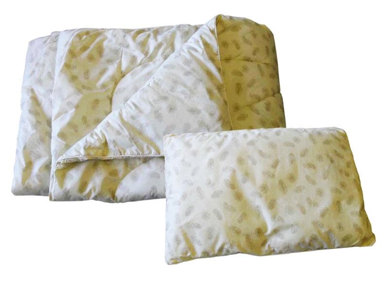 Комплект одеяло и подушки ПАПИТТО П-01-02, слоновая кость папитто крестильный набор универсальный
