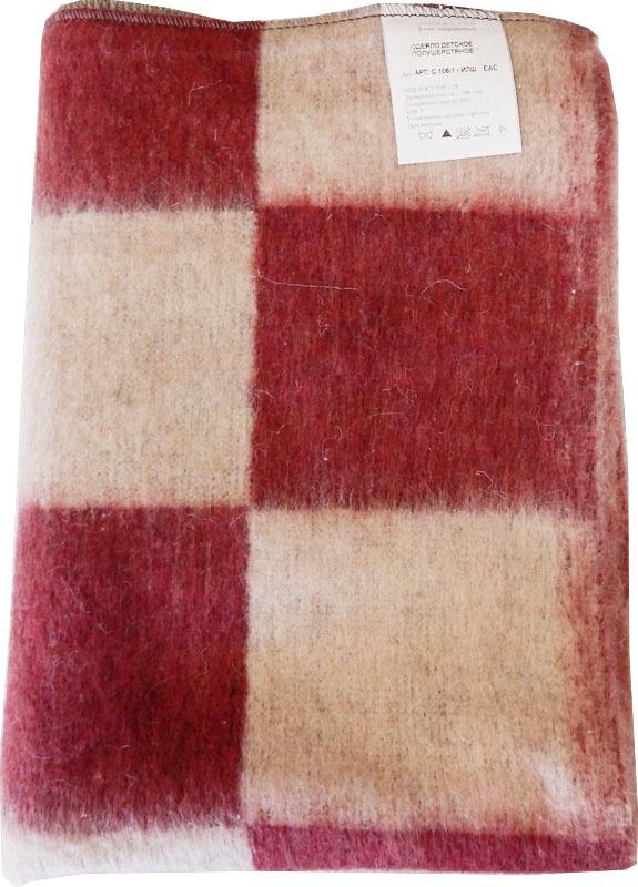 Одеяло детское ПАПИТТО С-106-1-ИЛШ_красный, красный полушерстяное пальто